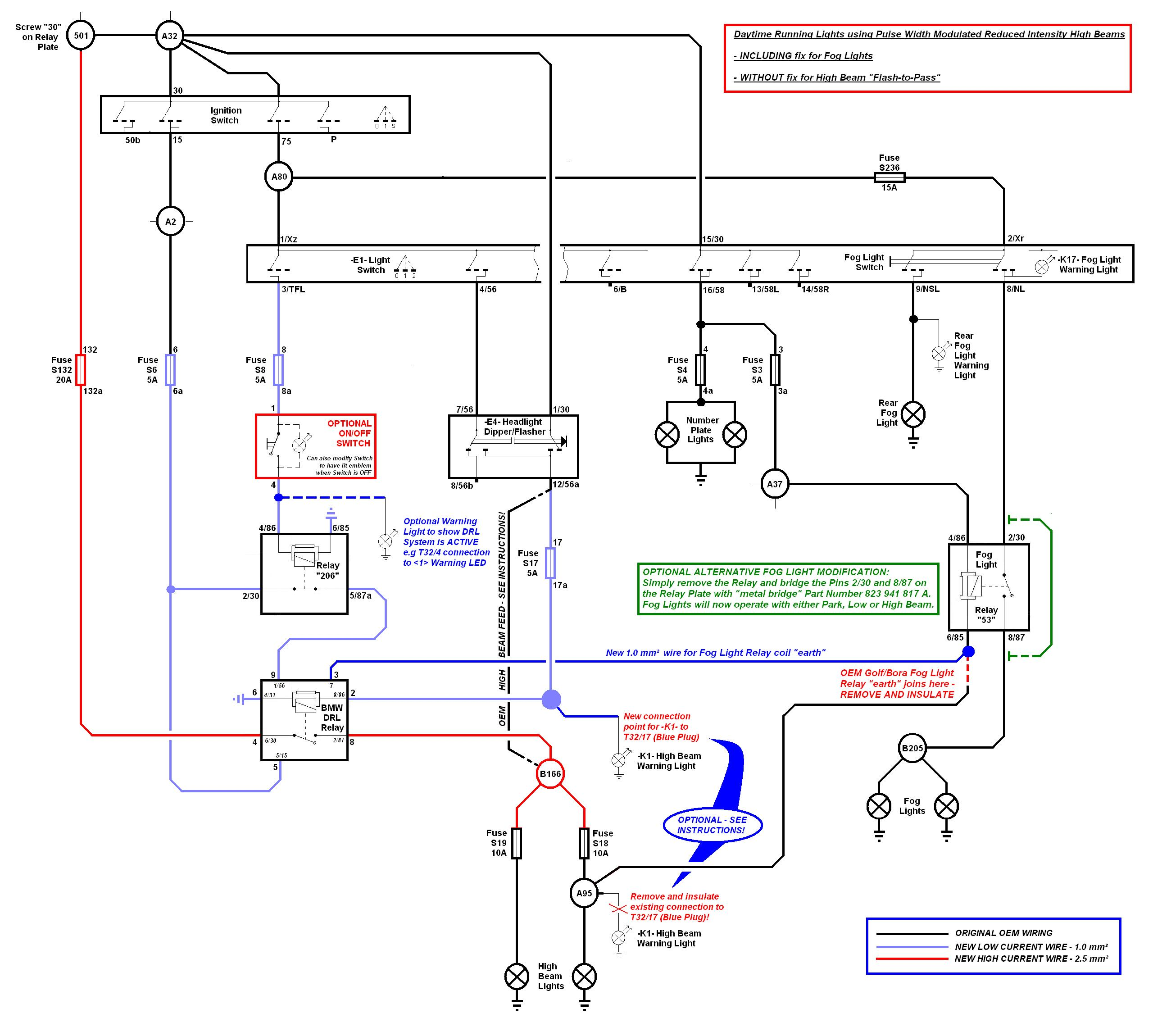 Headlight Wire Diagram Low Beam Headlight Wiring Diagram With Relays